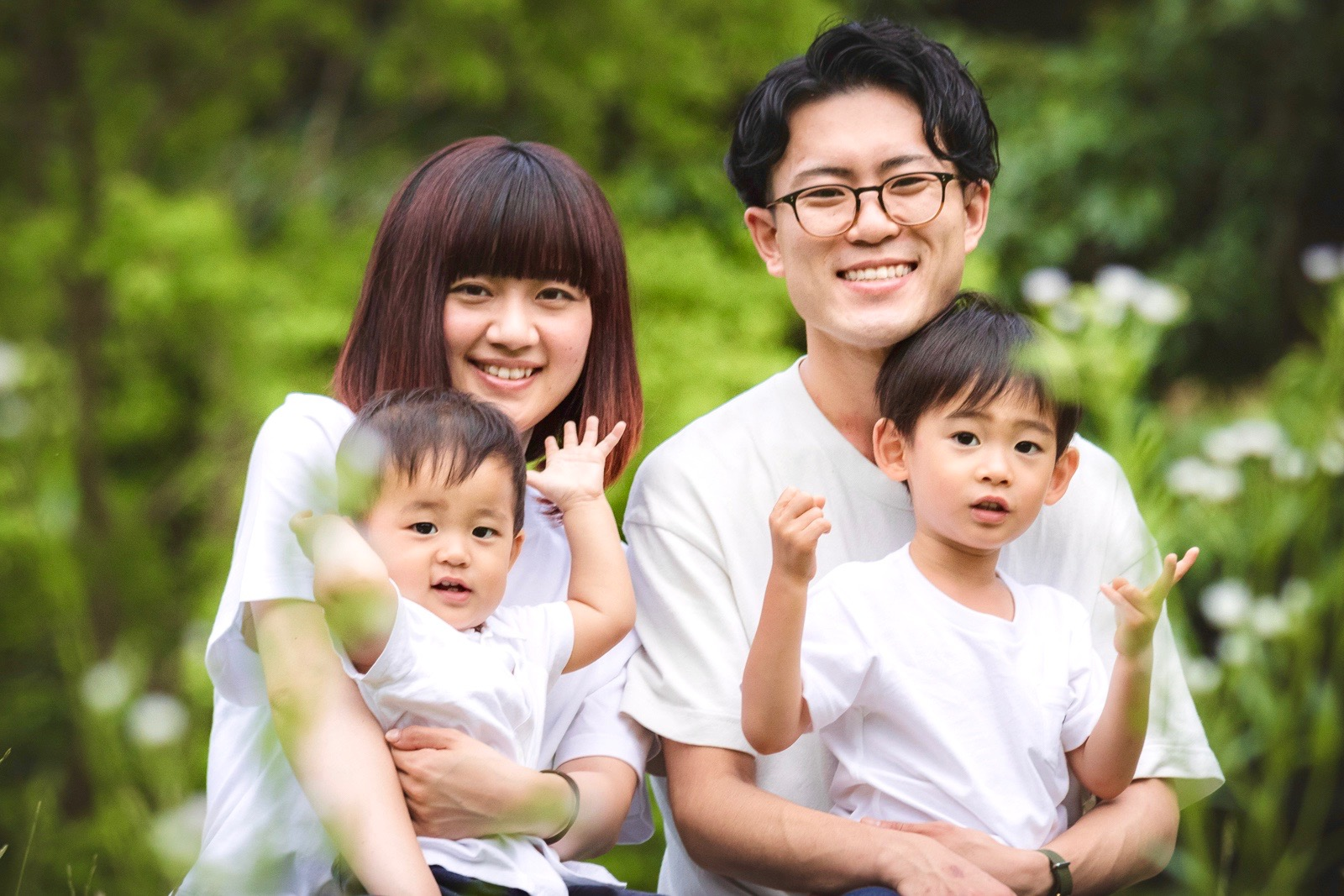 家族写真,岩田家,くせ毛