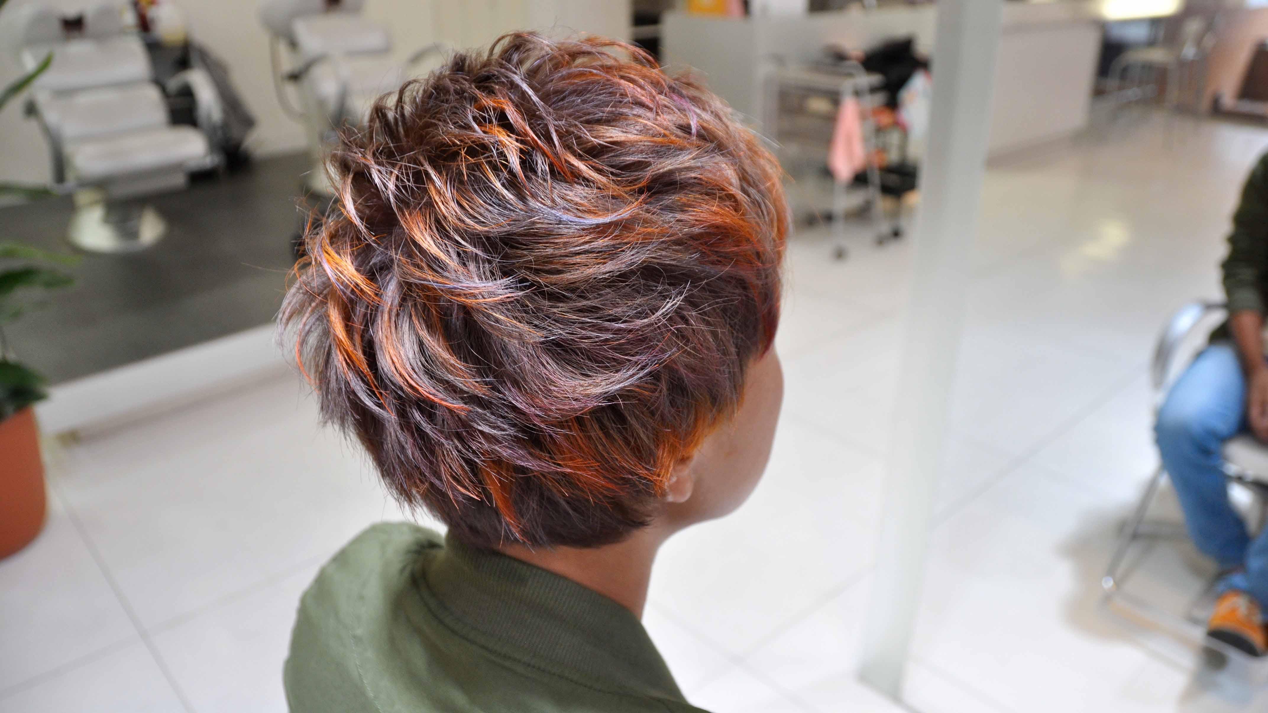 デザインカラー,オレンジ,紫