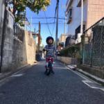 自転車デビュー。
