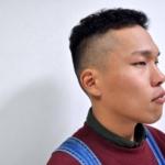barber風、ちりちりテーパーフェードヘアカット。