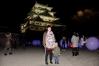 光る玉を見に、夜の名古屋城へ。